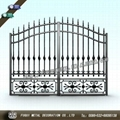 High quality wrought iron gate main swinging gate 1