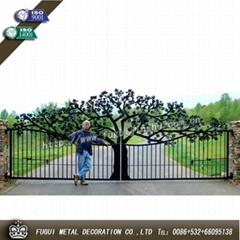 High quality wrought iron gate main swinging gate