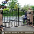 Elegant Decorative wrought iron gate main swinging gate 1