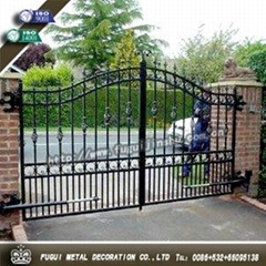 Elegant Decorative wrought iron gate main swinging gate