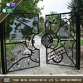 Luxury high quality wrought iron gate 3
