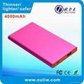 4000mAh pink color low weight external