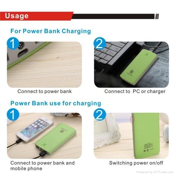 Original Power Bank for smart phone tablet PSP with 2USB output 5