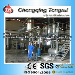 New Technical Multifunction Black Engine Oil Vacuum Recycling Distillation Equip