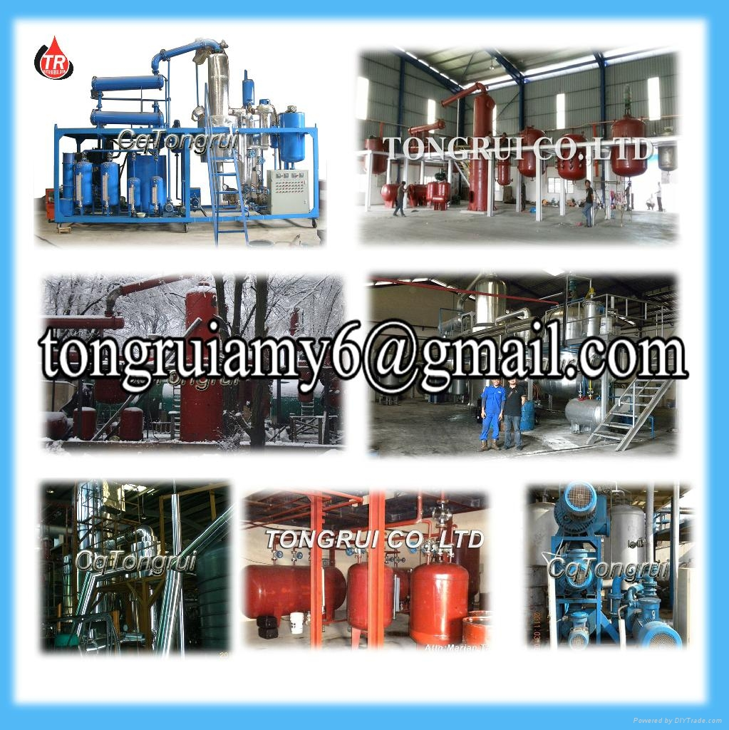 New Technical Multifunction Black Engine Oil Vacuum Recycling Distillation Equip 5