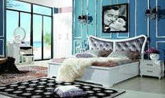High gloss white Bedroom  set
