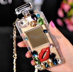 Hot sell TPU Perfume bottle Bling phone case for Iphone 6 6plus