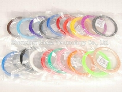20 Colors 3D Printer Pen Filament PLA 1.75mm Plastic Rubber Consumables Material