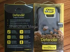 Samsung Galaxy S6 Otterbox Defender shockproof phone case with retail box (Hot Product - 1*)