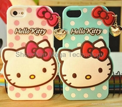 Iphone 6 6plus hello kitty cartoon silicone pendant phone case