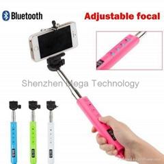Q-08 Zooming Function Wireless Bluetooth Monopod Self timer Photo Selfie Stick