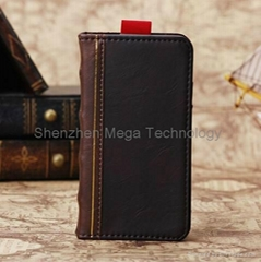 iphone 7 7 plus Bookbook PU soft leather Stand card slots phone case cover