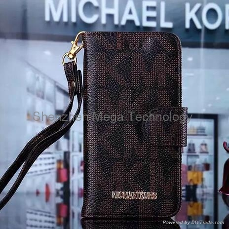 581a54e82b5a New Iphone 6 6plus Michael Kors MK PU leather wallet Brand Phone case cover  1 ...