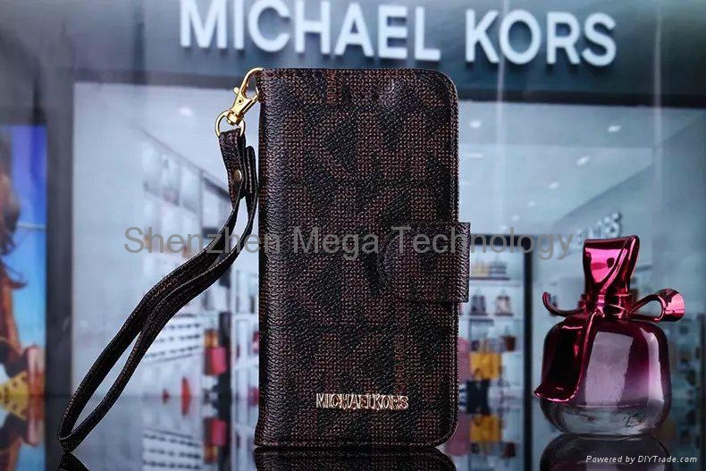 1e69c1f54dd6 ... New Iphone 6 6plus Michael Kors MK PU leather wallet Brand Phone case  cover 6 ...