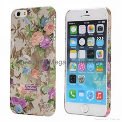 Cath Kidston Flowers Design Lacquered Shell Oil Coated PC Hard Case for iPhone 6