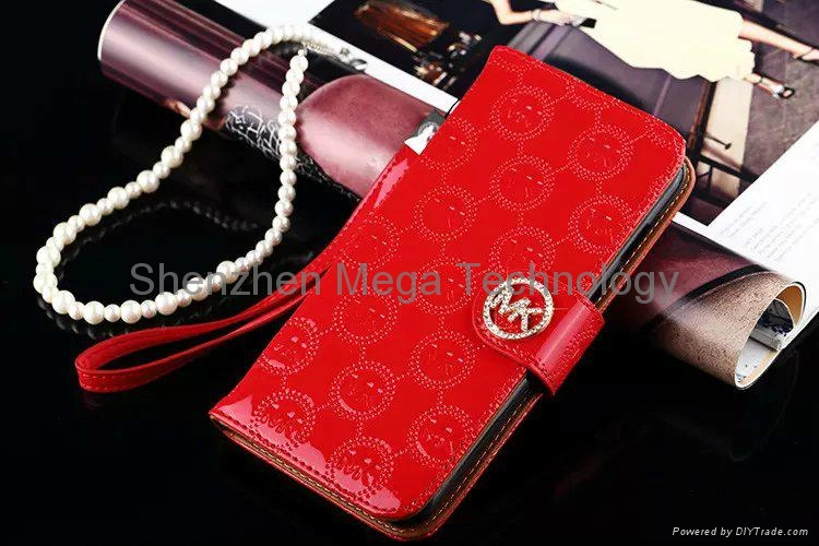 c157bbc08ec1 ... iphone 6s 6s plus MK michael kors Diamond shiny PU Flip wallet Phone  case cover 12