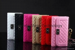 New Samsung Brand Note 5 PU leather Zipper Cardslot with mirror phone case cover