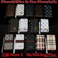 Iphone SE LV Louis Burberry TPU PU
