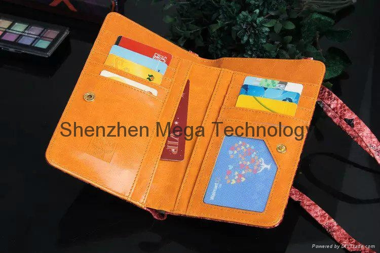 MCM Window Card slot wallet phone case cover for Sam Note 3 4 5 7