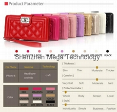 Chain cardslot wallet phone case cover for iphone 5/5s/6/6plus