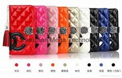 Beautiful tassel brand PU mirror diamond phone case cover for iphone X 6 6 plus