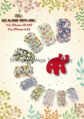 Brand New arrival Aru glow soft TPU phone case cover for iphone 5s 6 6 plus