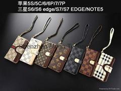Gucc Burberry brand + brown strip soft TPU phone case cover for Sam S7 S7 edge