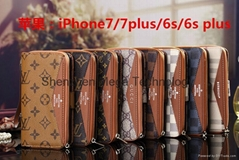 LV multifunctional V style wallet cardslot phone case cover for iphone 6/6p/7/7p