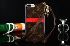 LV brand designer double string cardslot phone case cover for iphone 6 6p 7 7p