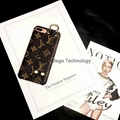 LV Classic brown monogram strip holder phone case cover for iphone 7 7plus