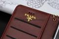 Design Prada knurling folio cardslot wallet phone case cover for iphone 7 7plus