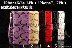 Coa folio designer wallet cardslot phone case cover for iphone 7 7plus 6 6plus