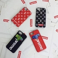 Supreme LV cardslot red white phone case