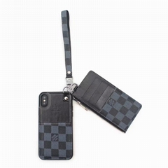 Playphone LV X, modern wallet Damier Graphite canvas with purse phone case