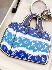 Key Ring wristlet key chain Stainless Steel ornament for handbag key holder