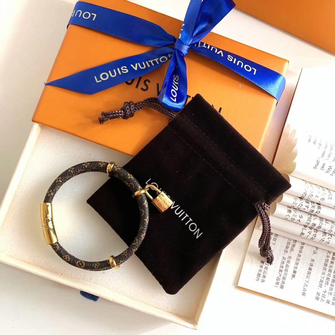 LV bracelet with lock adjustable circle 4
