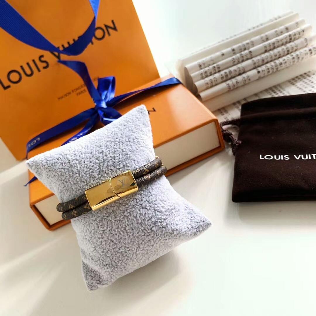 LV bracelet with lock adjustable circle 9