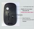 2.4GHz 1600dpi USB Cordless Optical Wireless Mouse Mice with Mini Hidden USB Rec 5