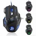 新款7D七彩遊戲鼠標 5