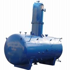 Atmospheric heat spray deaerator
