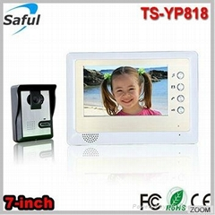 Saful TS-YP818 1v1 cheapest 7-inch TFT LCD wired video door phone peephole video