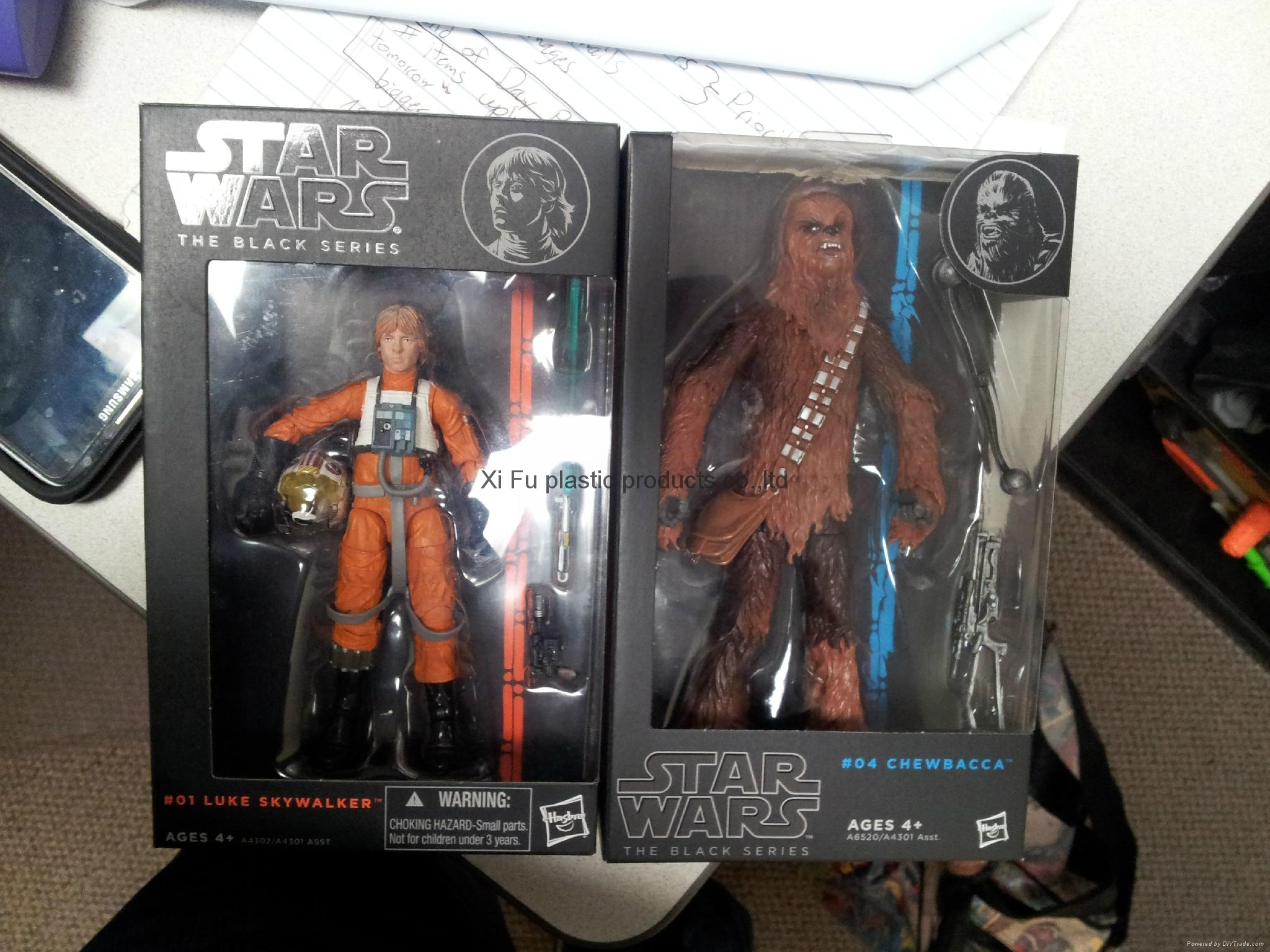 Star War collectible figure with window box packed