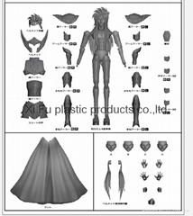 Put toy from concept into tooling -3D drawing ,breakdown parts