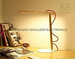 oak wood lamp led table lamp led desk light