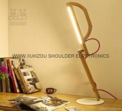 10w led foldable table lamp wooden desk light