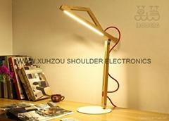 Funny Modern Style Solid Wooden fancy desk lamps