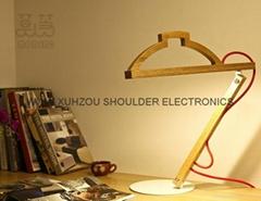 Solid wood modern minimalist bedroom bedside table lamp creative arts deco studi