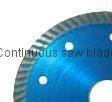 Narrow turbo saw blade
