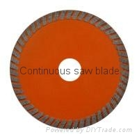 Hot-press mid-turbo saw blade