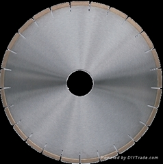 Silent core saw blade